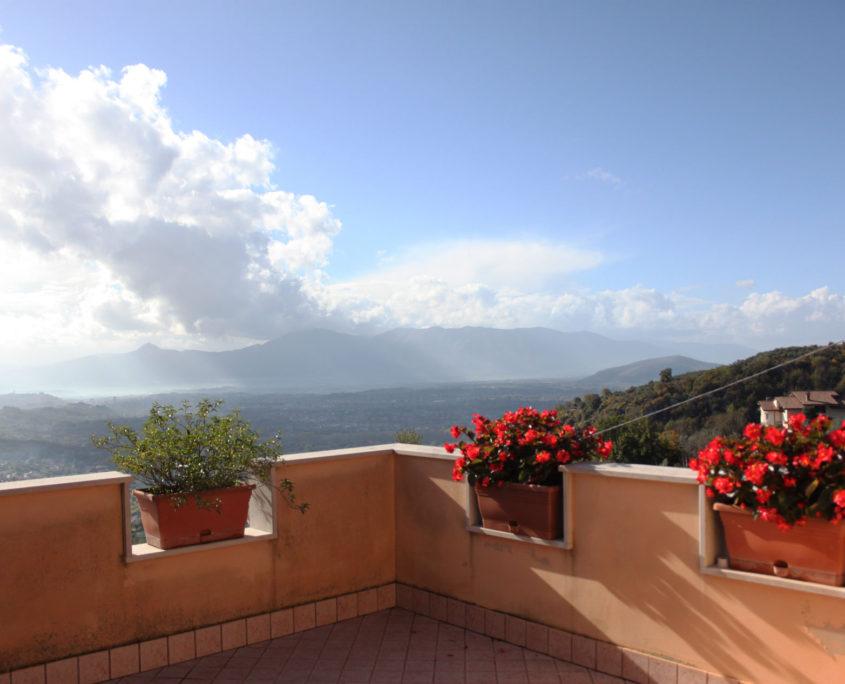 Vista panoramica dal balcone dei una camera